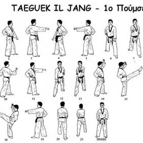 Tae kwon do - 1ο poomsae